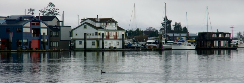 Float Homes on the south arm of the Fraser River